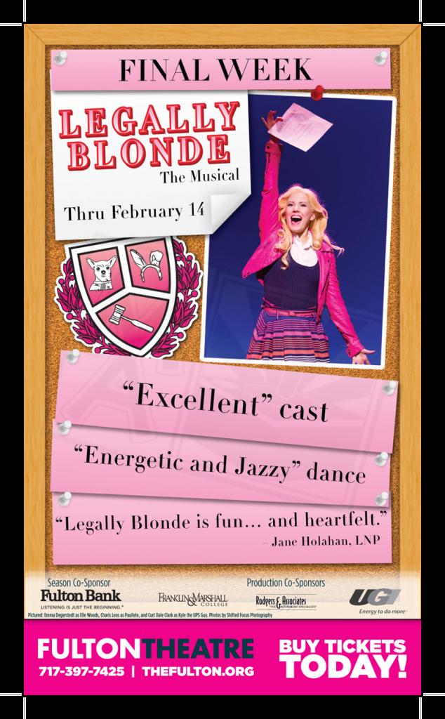 Legally Blonde Newspaper Ad - Final Week