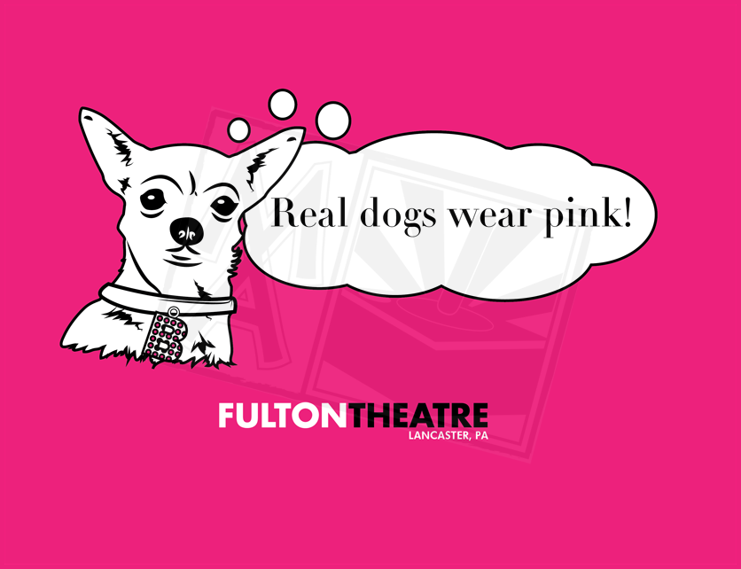 Real Dogs Wear Pink Shirt