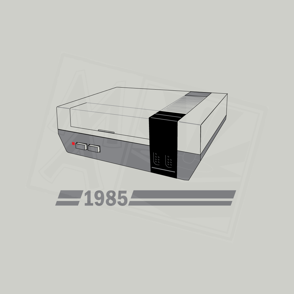 History of Gaming - NES T-Shirt Design