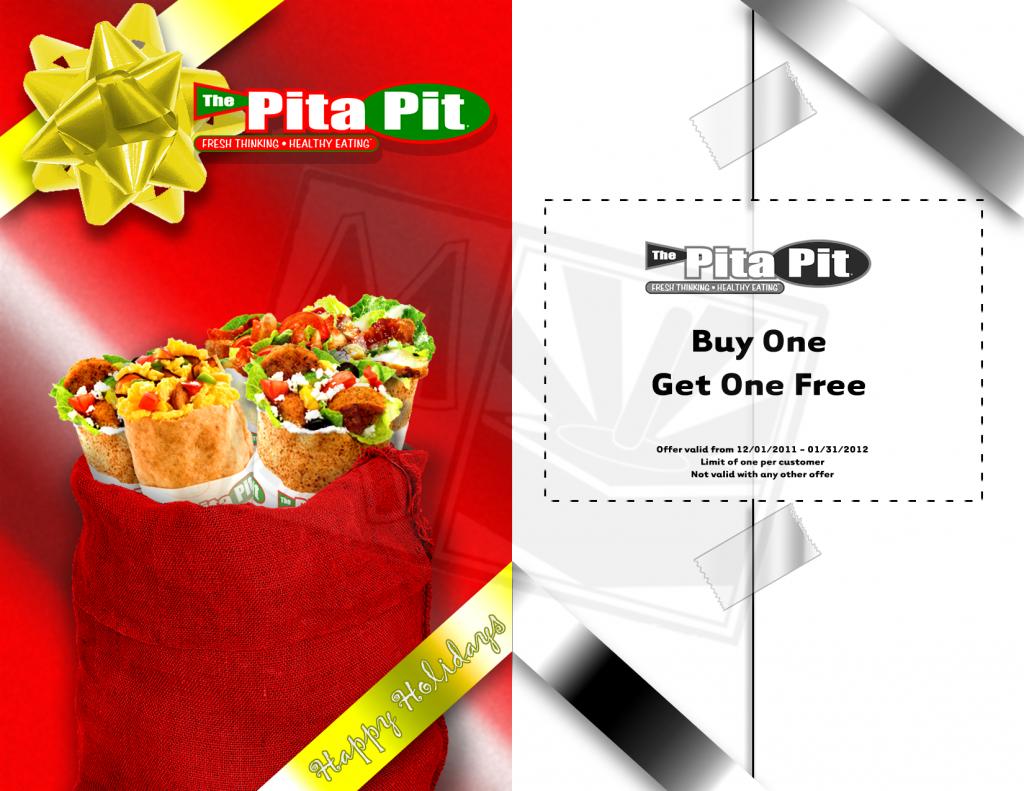 Pita Pit BOGO Holiday flyer