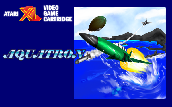 Aquatron Atari XL cartridge label