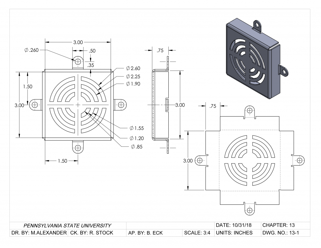 Cooling Fan Cover - Solidworks