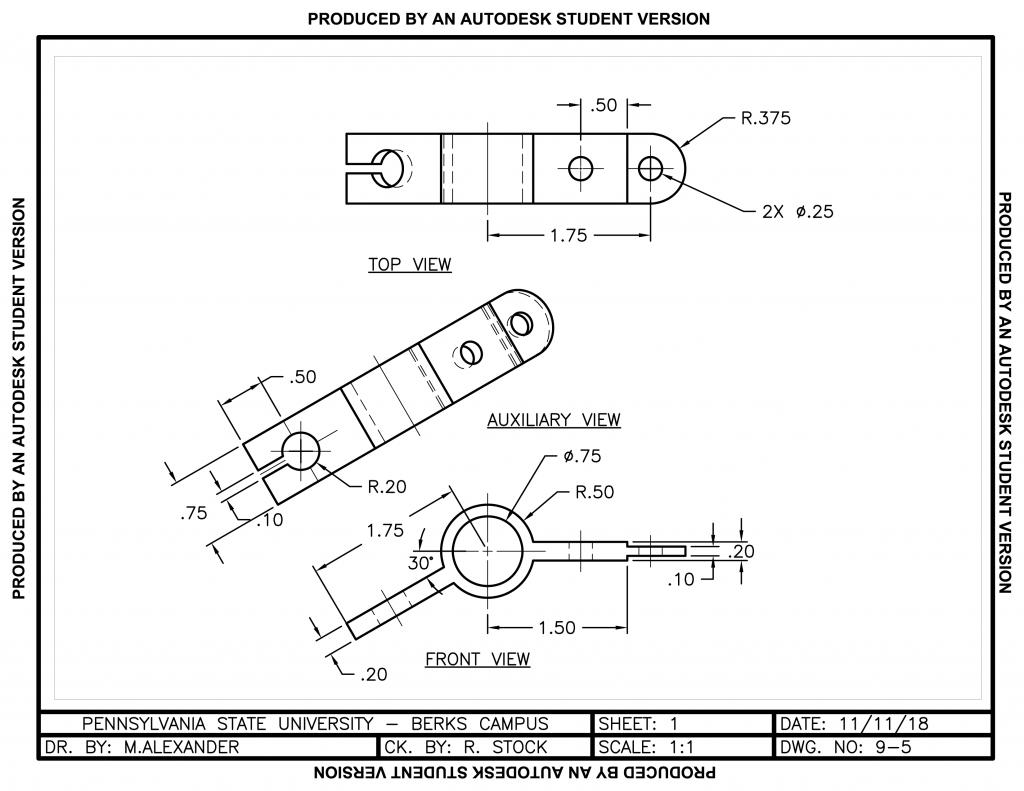 Support Hanger - AutoCAD